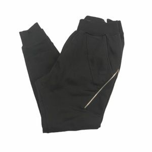 Zara sweatpant joggers with zippers